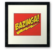 Sheldon Cooper - The Big Bang Theory Bazinga! Distressed Framed Print