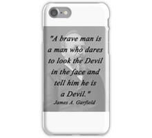Garfield - Brave Man iPhone Case/Skin