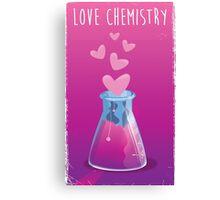 love chemistry cartoon love. Canvas Print