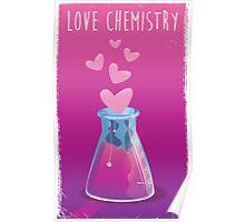 love chemistry cartoon love. Poster