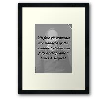 Garfield - Free Governments Framed Print