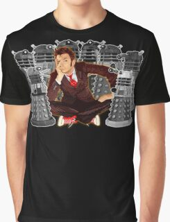 Time traveller captured by mini droid robot Graphic T-Shirt