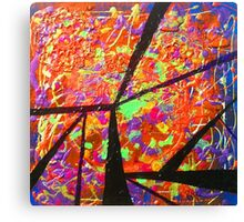 Abstract Orange Butterflies Canvas Print