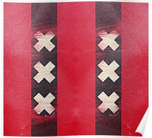 Amsterdam flag leather Poster