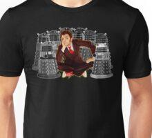 Time traveller captured by mini droid robot Unisex T-Shirt