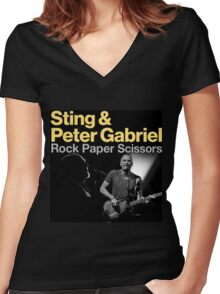 Sting & Peter Gabriel TOUR 2016 6 Women's Fitted V-Neck T-Shirt