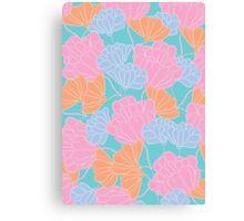 Neon Floral Canvas Print