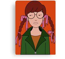 Daria Hair Braids Canvas Print