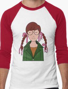 Daria Hair Braids Men's Baseball ¾ T-Shirt