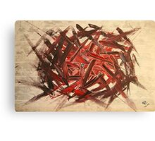 RAW 2 : red Canvas Print