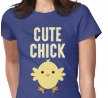 Funny Cute Chick T Shirt Womens Fitted T-Shirt