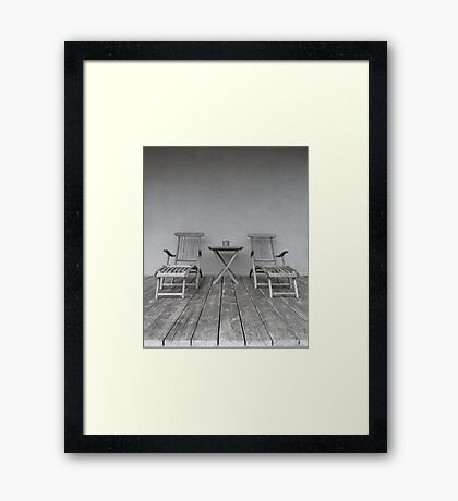 Lounge Chairs on Deck Framed Print