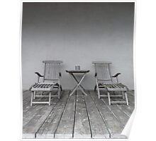 Lounge Chairs on Deck Poster