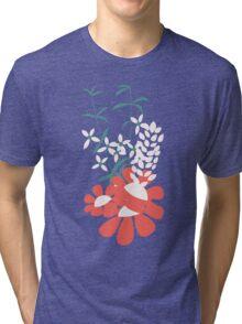 Flower Garden 009 Tri-blend T-Shirt