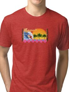 Hawaiian Surfing Tri-blend T-Shirt
