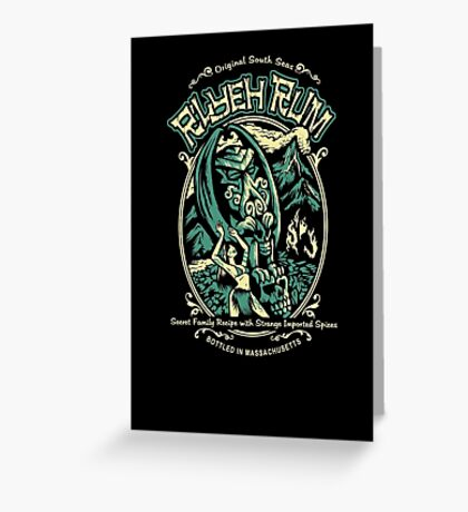 R'lyeh Rum Greeting Card