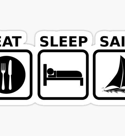 Eat Sleep Sail Sticker