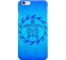 Blue Tribal Turtle Sun iPhone Case/Skin