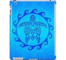 Blue Tribal Turtle Sun iPad Case/Skin