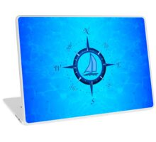 Sailboat And Compass Rose Laptop Skin