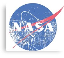 Distressed Nasa Logo Canvas Print