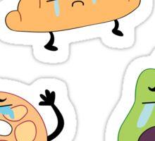 Crying Breakfast Friends Sticker