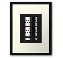 Death Star Interior Lighting Framed Print