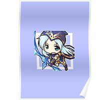 Chibi Ashe League of Legends Poster