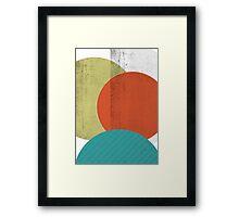COLOURED CIRCLES Framed Print