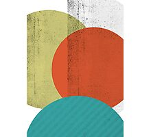COLOURED CIRCLES Photographic Print