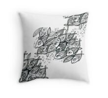 FISH mood Throw Pillow