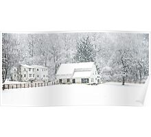 Wintry Homestead  Poster