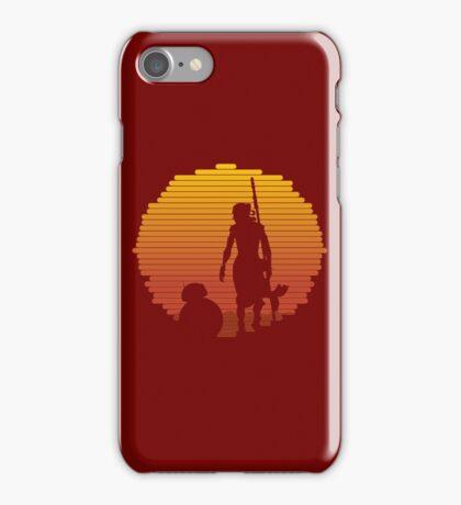 BB-8 & Rey : Jakku Sunset iPhone Case/Skin