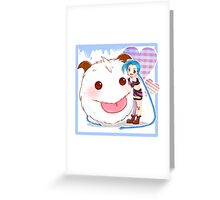 Jinx and Poro League of Legends Greeting Card