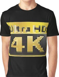 4K Ultra HD Graphic T-Shirt