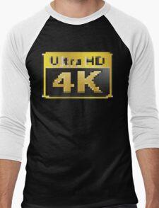 4K Ultra HD Men's Baseball ¾ T-Shirt