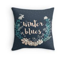 Winter Blues 004 Throw Pillow