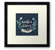 Winter Blues 004 Framed Print