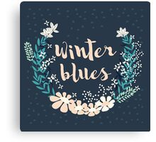 Winter Blues 004 Canvas Print