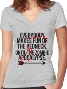 Redneck Apocalypse Women's Fitted V-Neck T-Shirt