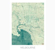 Melbourne Map Blue Vintage Unisex T-Shirt