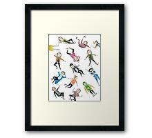 Harry Pattern Framed Print