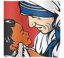 Mother Teresa and Child Poster