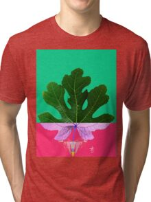 Fig Leaf Diamond Christmas - Other Half and Half Tri-blend T-Shirt