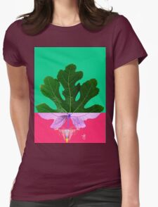 Fig Leaf Diamond Christmas - Other Half and Half Womens Fitted T-Shirt