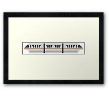 MONORAIL - GOLD Framed Print
