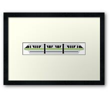 MONORAIL - LIME Framed Print