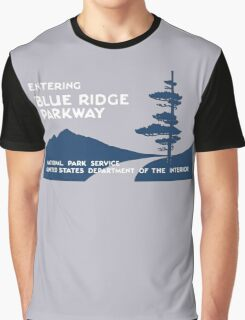 Blue Ridge Parkway Sign, VA & NC, USA Graphic T-Shirt