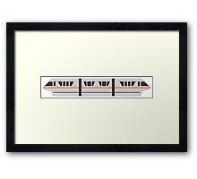 MONORAIL - PEACH Framed Print