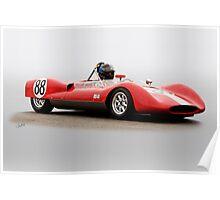 1961 Huffaker Genie 88 Vintage Racecar Poster